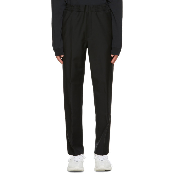 Acne Studios 黑色弹性裤腰长裤