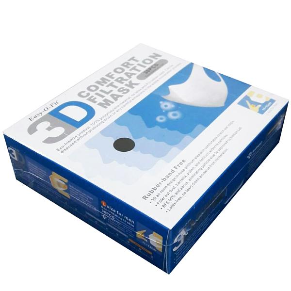 【現貨供應】純白色成人3D立體口罩(非醫療用),白色(L)11-13公分