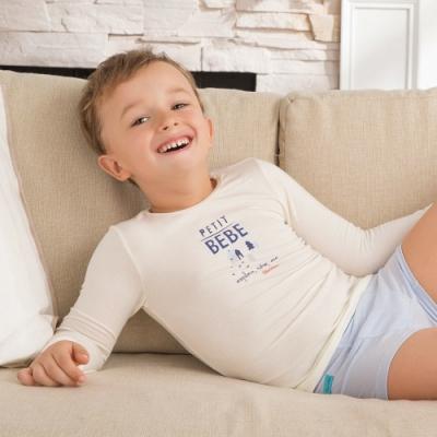 【限時滿額送玩樂劵】奇哥 甲殼素抗菌保暖布圓領衫(6-10歲)