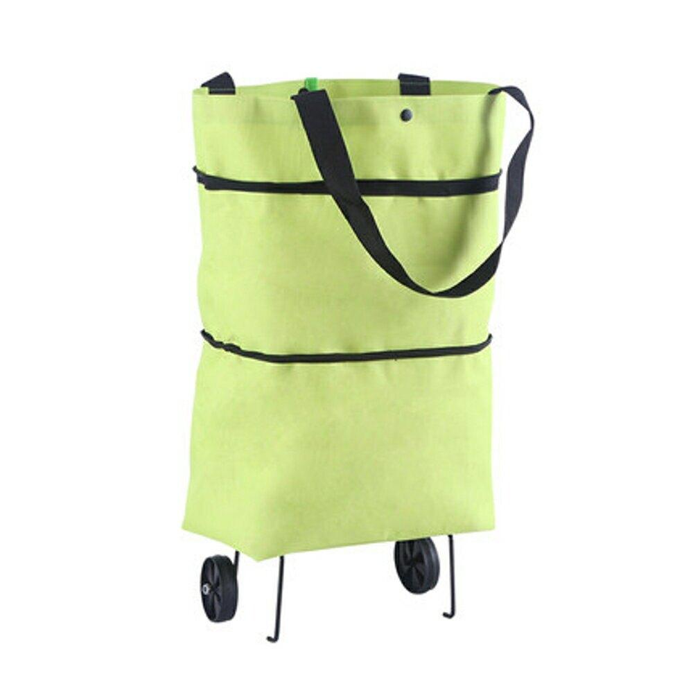 購物袋 超市購物袋摺疊便攜大號手提袋買菜包帶輪子防水袋子大容量環保袋 2色【99購物節】