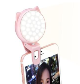 【現貨】JS幾素直播補光燈手機自拍燈美顏瘦臉嫩膚高清打光道具小型環形燈TWXH-02120