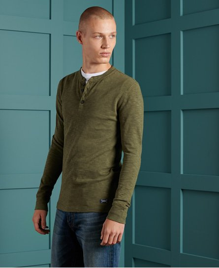 Superdry Organic Cotton Legacy Long Sleeve Henley Top