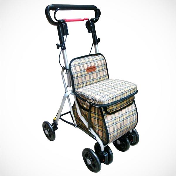 來而康 鋁製銀髮族健步車 附袋