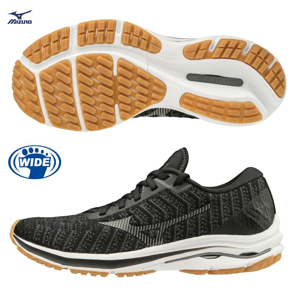 MIZUNO WAVE RIDER 24 WAVEKNIT 女鞋 慢跑 ENERZY 黑【運動世界】J1GD207740