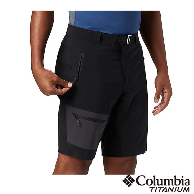 Columbia哥倫比亞 男款-鈦 防潑防曬50短褲-黑色UAE03160BK