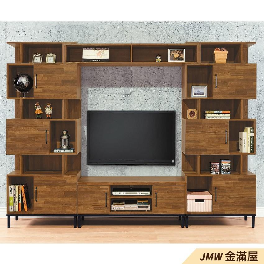 279cm電視櫃金滿屋客廳組合長櫃 展示收納櫃 北歐工業風 tv櫃 g701-8 -