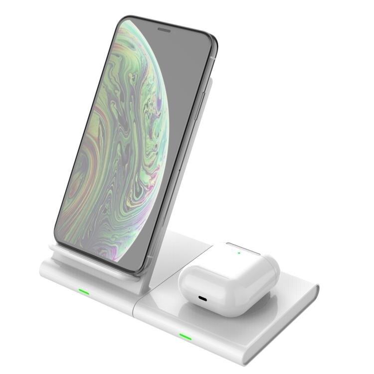 雙充無線充手機手錶耳機通用三合一快充磁吸無線充電器