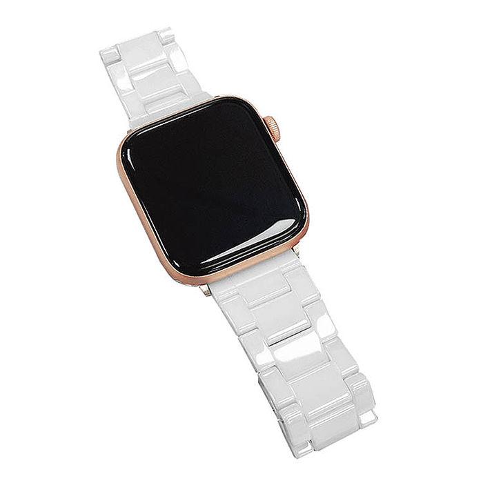 Apple Watch 質感陶瓷 蝴蝶扣 替換手錶錶帶 (贈錶帶調整器)42/44mm