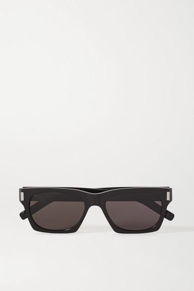 SAINT LAURENT - 板材方框太阳镜 - 黑色 - one size