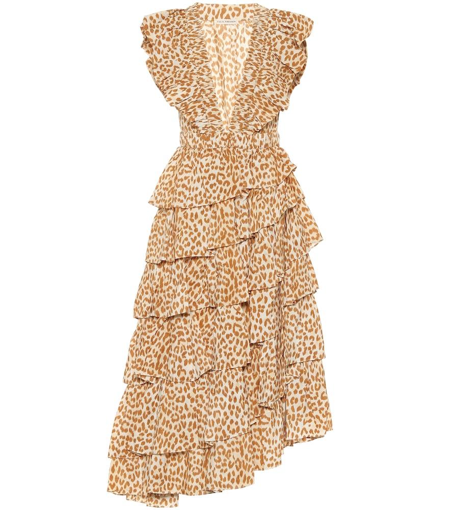 Viola cheetah-print midi dress