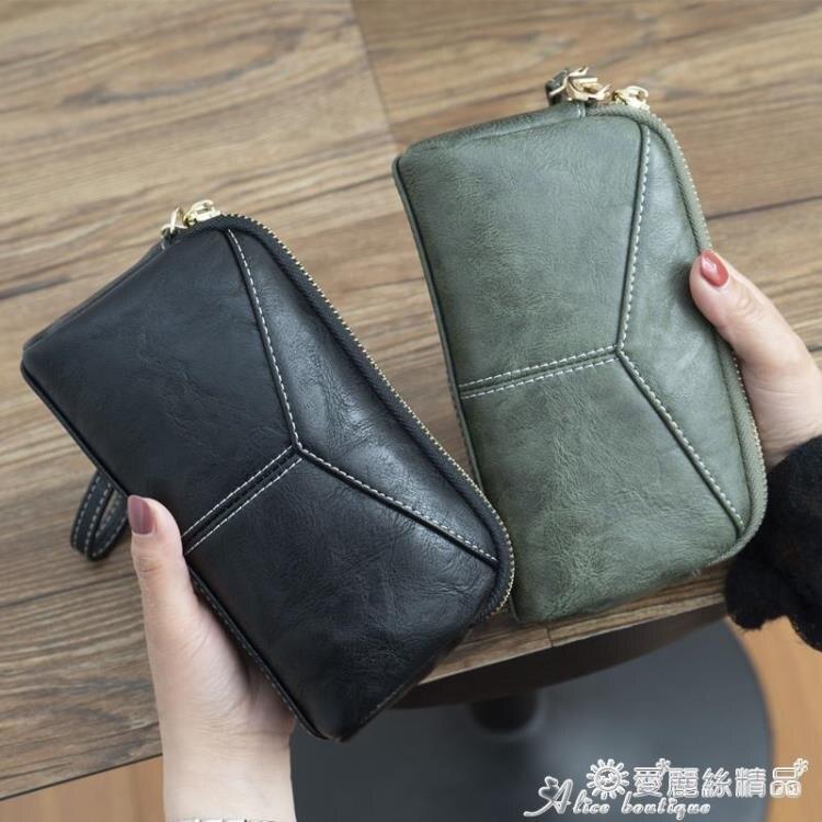 零錢包 2020新款日韓長款女士女包簡約百搭手拿包簡約零錢手抓包手機包