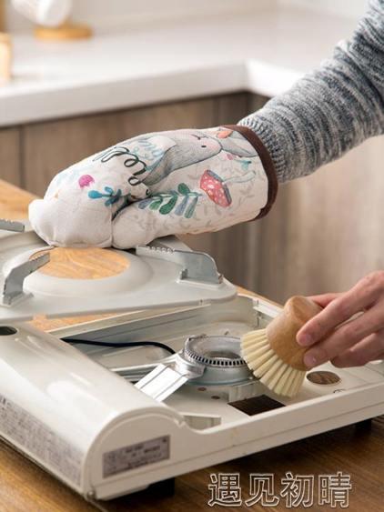 兔子加厚烤箱專用隔熱防燙手套廚房家用耐高溫微波爐烘焙防熱手套
