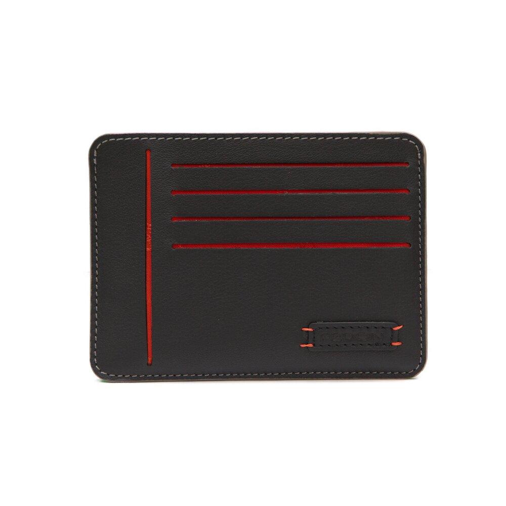 【GIORGIO FEDON 1919】Ninja 雙色8卡名片薄卡夾(黑灰)
