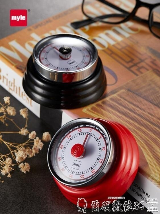 定時器廚房計時器定時器提醒器學生番茄鬧鐘時間管理機械倒計時數位 清涼一夏钜惠