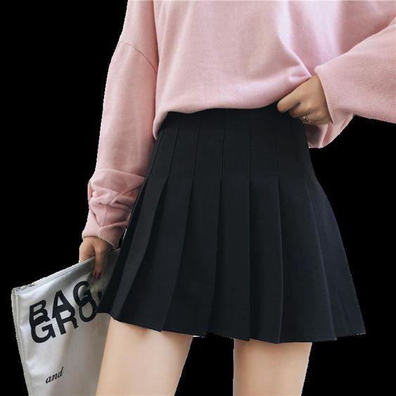 格子百摺裙女春夏學院短裙高腰半身裙2020新款裙子jk制服a字裙褲