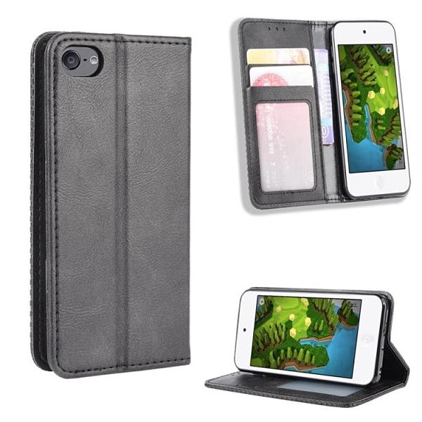 復古 掀蓋殼 蘋果 iPod Touc 7 6 5 手機殼 隱形磁釦 支架插卡 保護殼 Touch7 翻蓋皮套