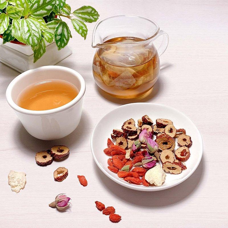 紅棗玫瑰薑茶 漢方養生茶 10入 紅棗 玫瑰 枸杞 薑