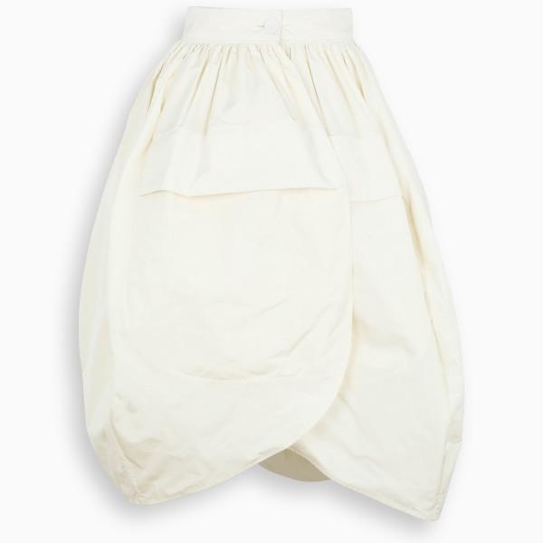 Jil Sander White balloon skirt