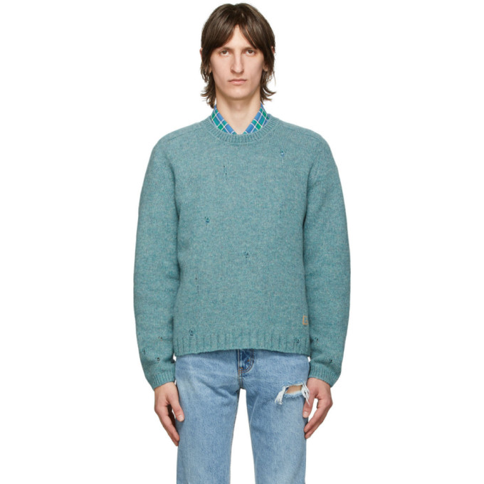 Gucci 蓝色 Square G 羊毛毛衣
