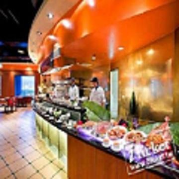 台中金典酒店12F柏麗廳自助平日午晚餐優惠餐-一套二張