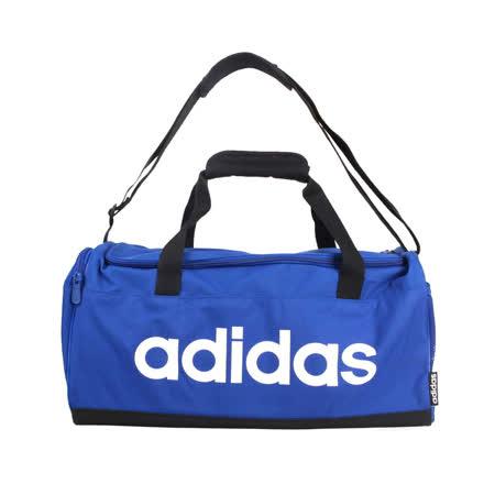 ADIDAS 中型健身包-圓筒包 側背包 裝備袋 行李袋 旅行包 運動 愛迪達 藍白 F