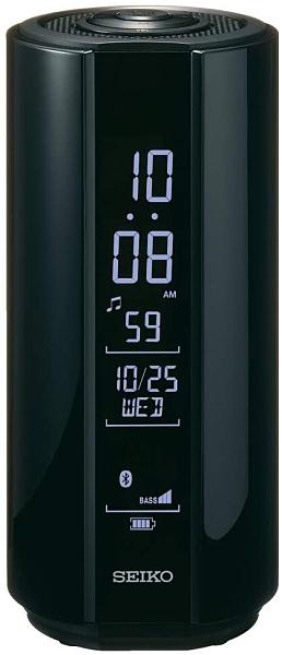SEIKO【日本代購】精工 液晶鬧鐘 無線音箱-SS201W-黑