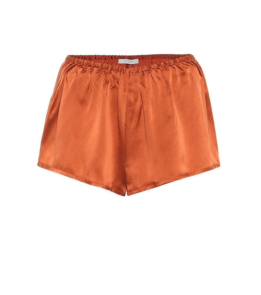 Venice silk satin shorts