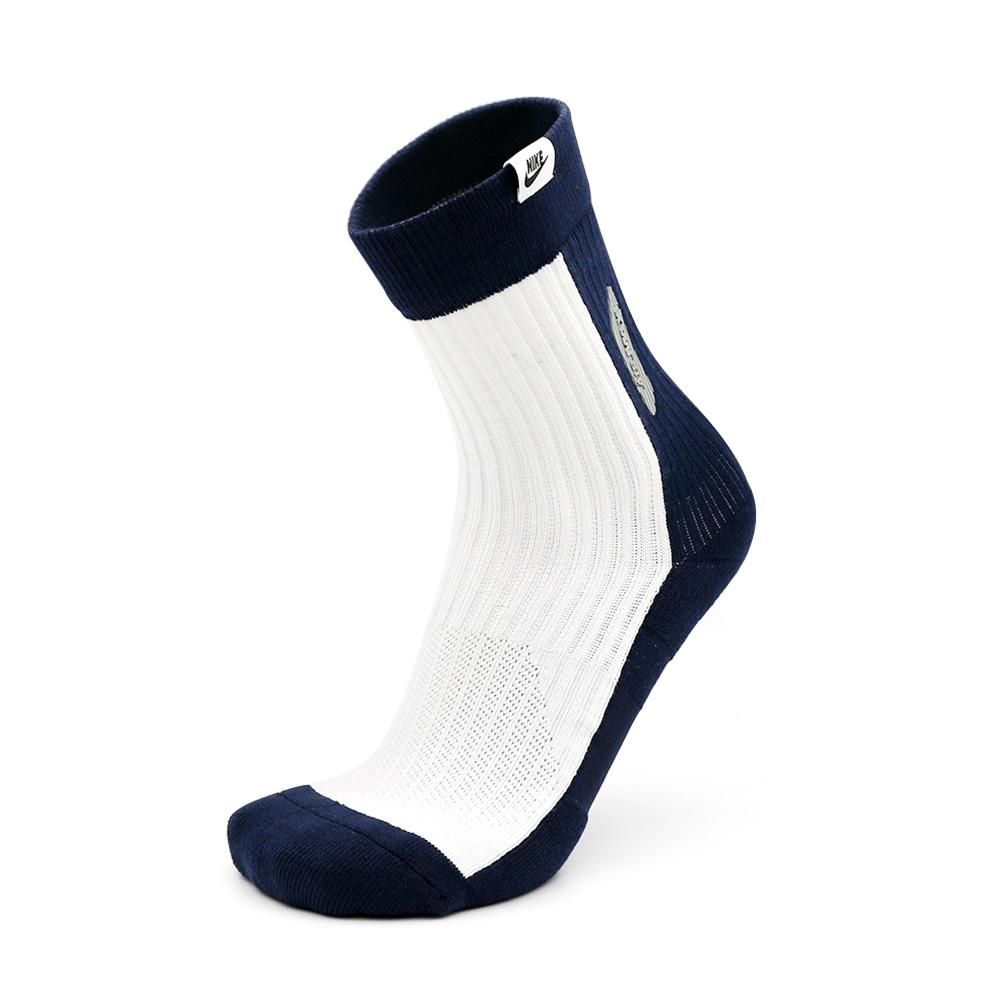 NIKE U SKNR SOX CREW AM90 中性 運動襪 白深藍 SK0005102
