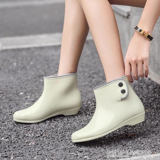 平底果凍雨鞋女短筒時尚款雨靴防滑套鞋水靴防水水鞋可愛外穿女士