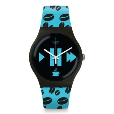 Swatch New Gent 原創系列手錶 COFFEE BLUE-S 咖啡藍-41mm