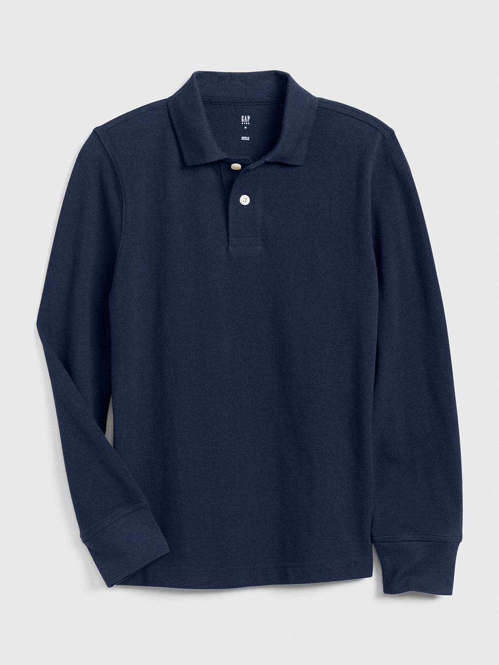 男童 簡約風格長袖POLO衫