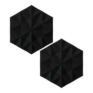 (組)2入丹麥ZONE FACET系列菱紋矽膠鍋墊-黑
