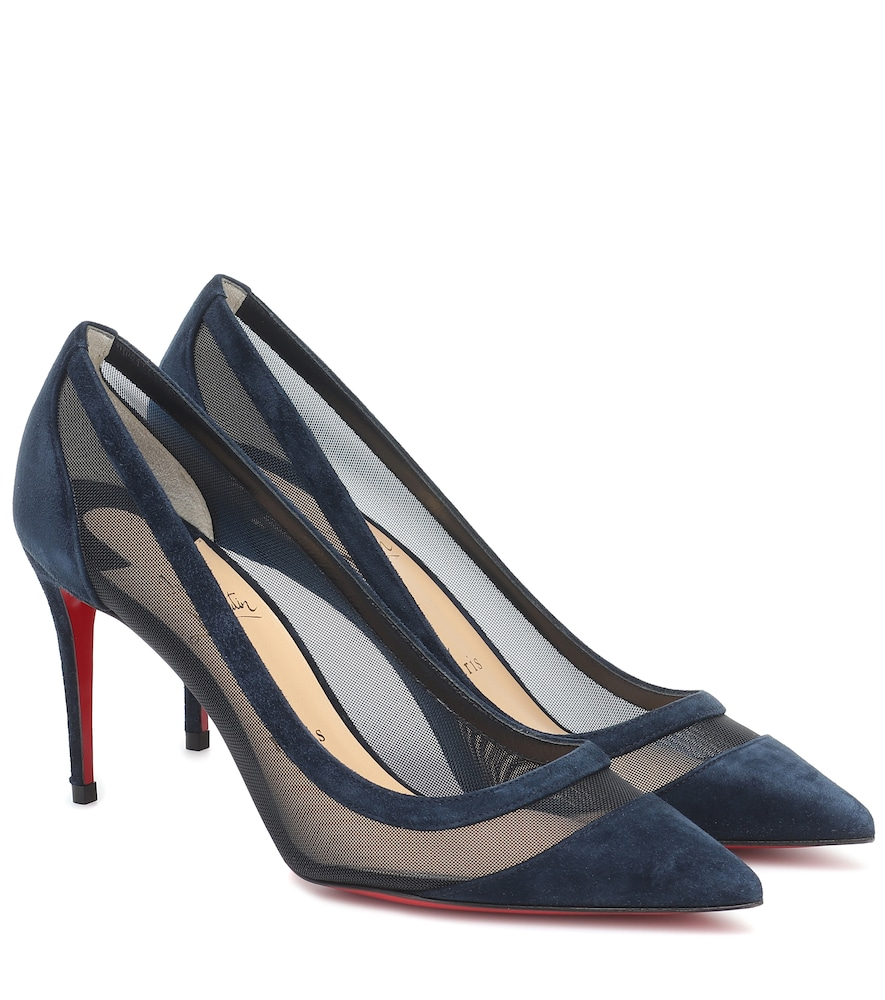 Galaviti 85 suede and mesh pumps