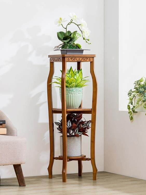 花架 木馬人花架子實木落地式室內多層多肉綠蘿盆特價陽臺客廳置物裝飾