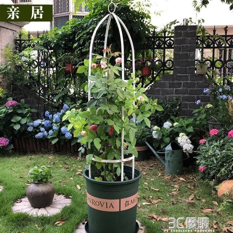 立柱花架爬藤架園藝支架植物攀爬架鐵藝支柱室內外月季鐵線蓮葡萄