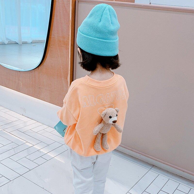 熊衛衣新款兒童童秋冬女童秋裝