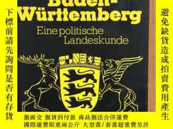 二手書博民逛書店Baden-Württemberg:罕見Eine politis