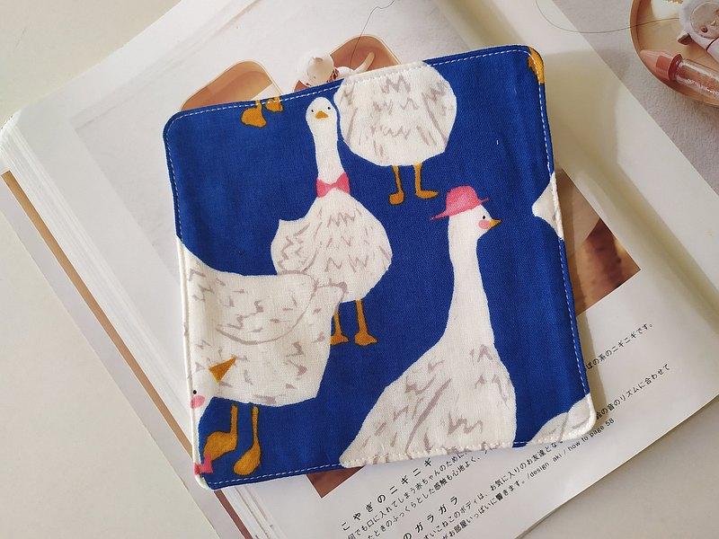 藍底 鵝 鵝 鵝 六層紗 小手帕 方巾 寶寶洗臉巾 擦汗巾 口水巾