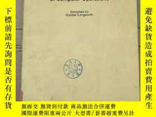 二手書博民逛書店management罕見handbook of computer operations(P2714)Y1734