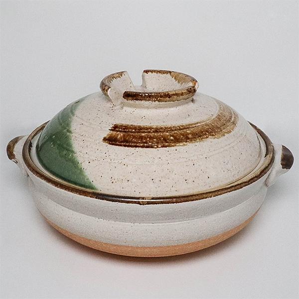 日本陶鍋【信樂燒】銀河刷毛目 9號 土鍋 砂鍋 日本製陶瓷