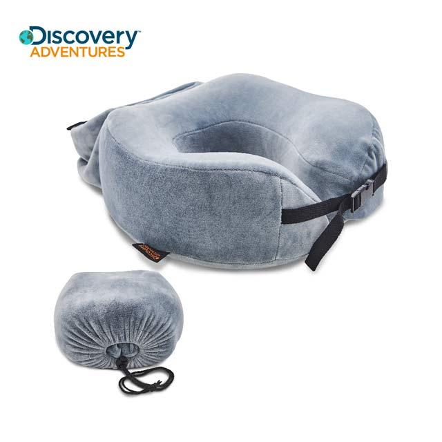 【Discovery Adventures】加高記憶棉旅行頸枕-灰