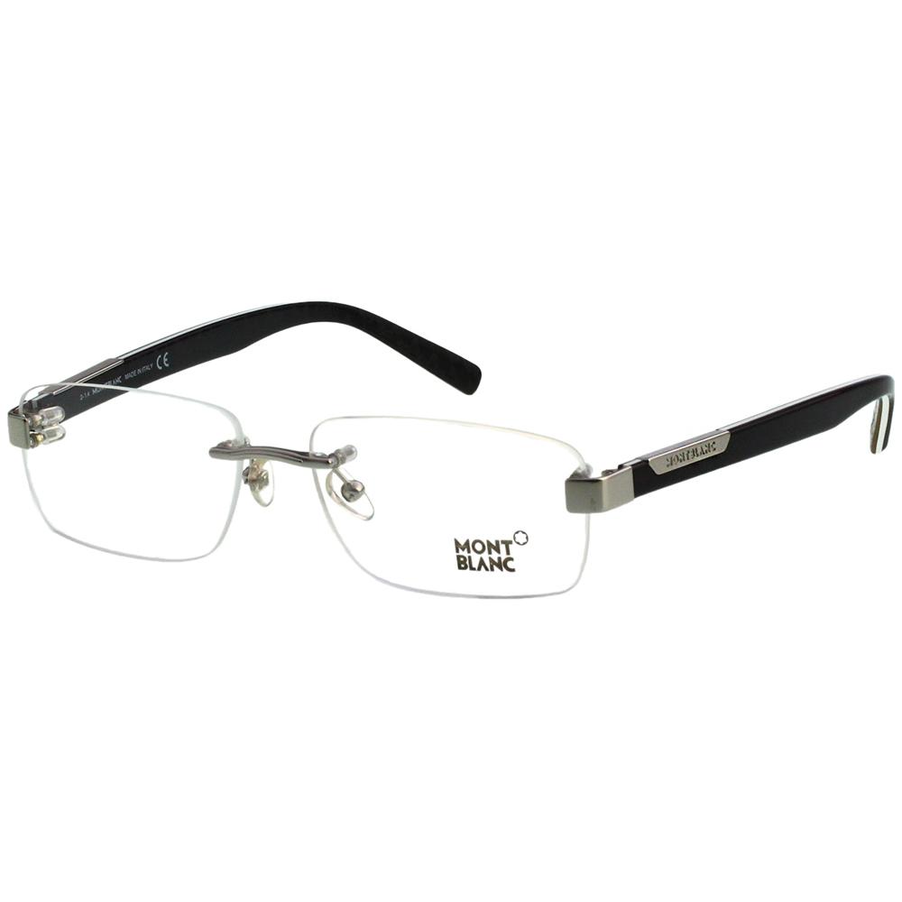 萬寶龍 MONTBLANC-光學眼鏡(槍色)MB498U