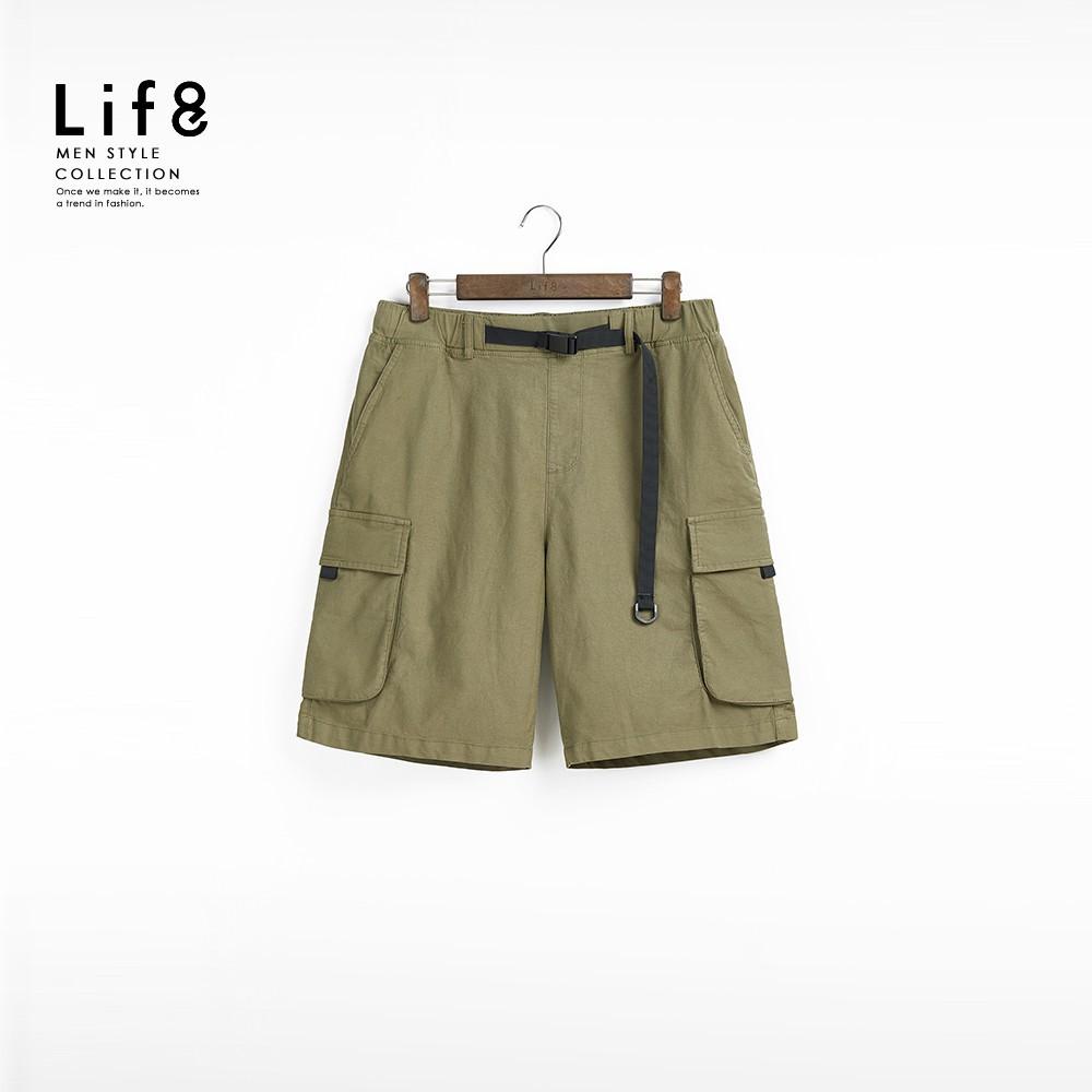 Life8 Casual 立體雙袋 戰術扣環短褲 02570 廠商直送