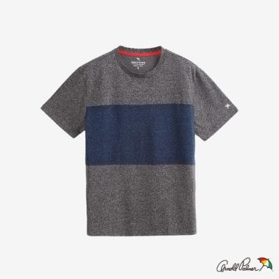 Arnold Palmer -男裝-運動拼接色塊排汗T恤-灰