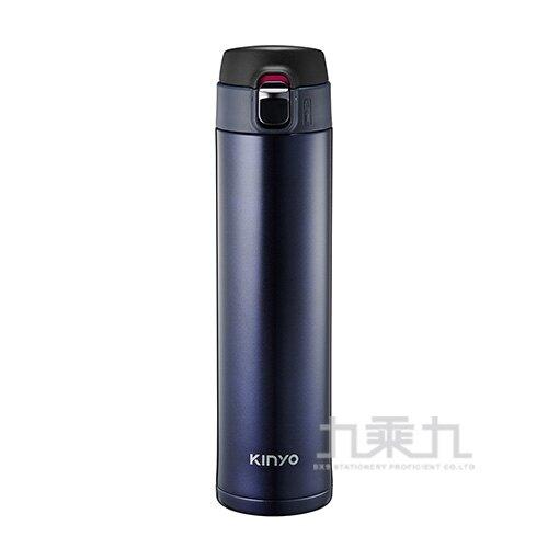 KINYO 304不鏽鋼大容量保溫杯-藍 520ml