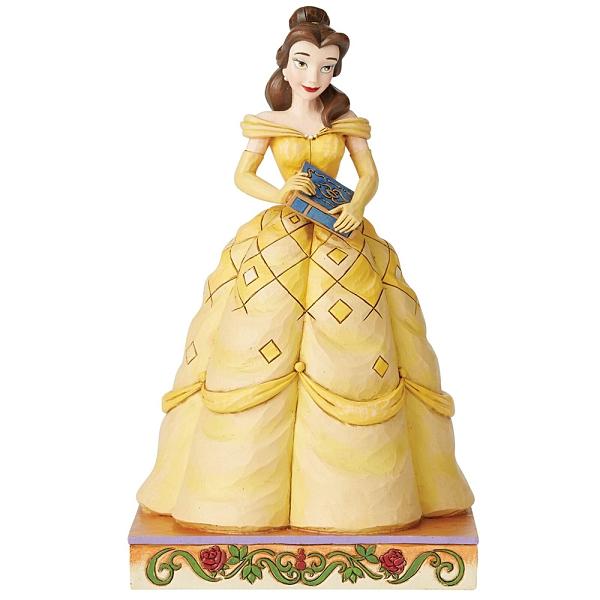 Enesco Disney 迪士尼公主 美女與野獸貝兒夢想塑像_EN14419