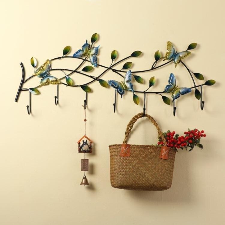鄉村掛鉤創意鐵藝掛衣鉤北歐牆上衣鉤牆面裝飾掛鉤玄關門口鑰匙架