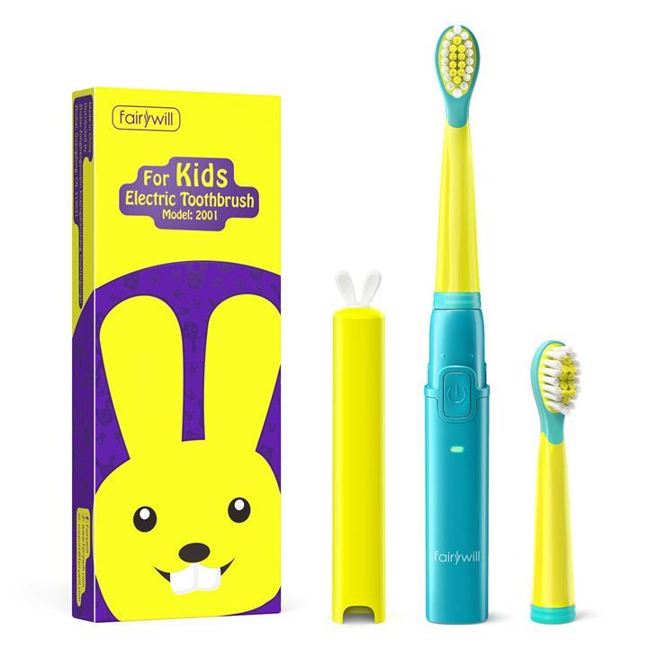【美國代購】Fairywill Kids電動牙刷 可愛兔子蓋的超柔軟刷毛 符合人體工學設計
