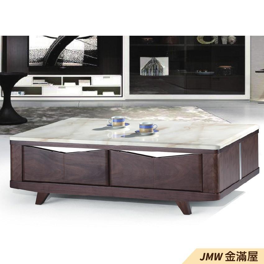 寬140cm客廳茶几組 北歐工業風桌金滿屋實木原木玻璃 大理石長方桌 大小邊几 圓桌 g630-