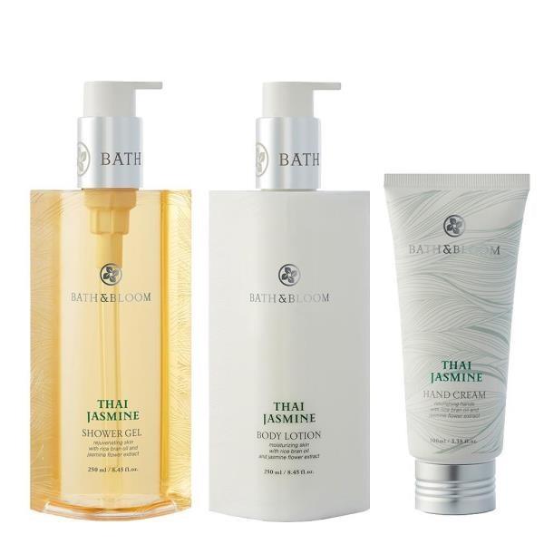 Bath & Bloom 泰國茉莉沐浴精+身體乳+護手霜